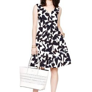 Kate Spade Butterfly Print Fit & Flare Dress